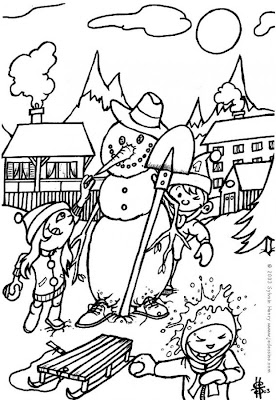 Snowman Coloring Pages for Kids