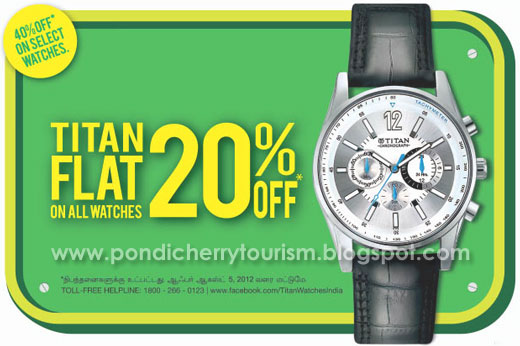 Titan Watches Flat 20 percent offer