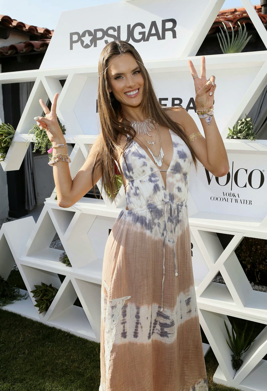 Alessandra Ambrosio is bohemian chic at the launch of jewellery collection at Palm Springs