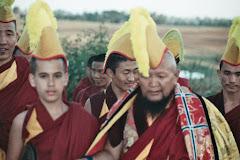 Lama Gangchen e Lama Michel por ocasião do entronamento de Lama Michel