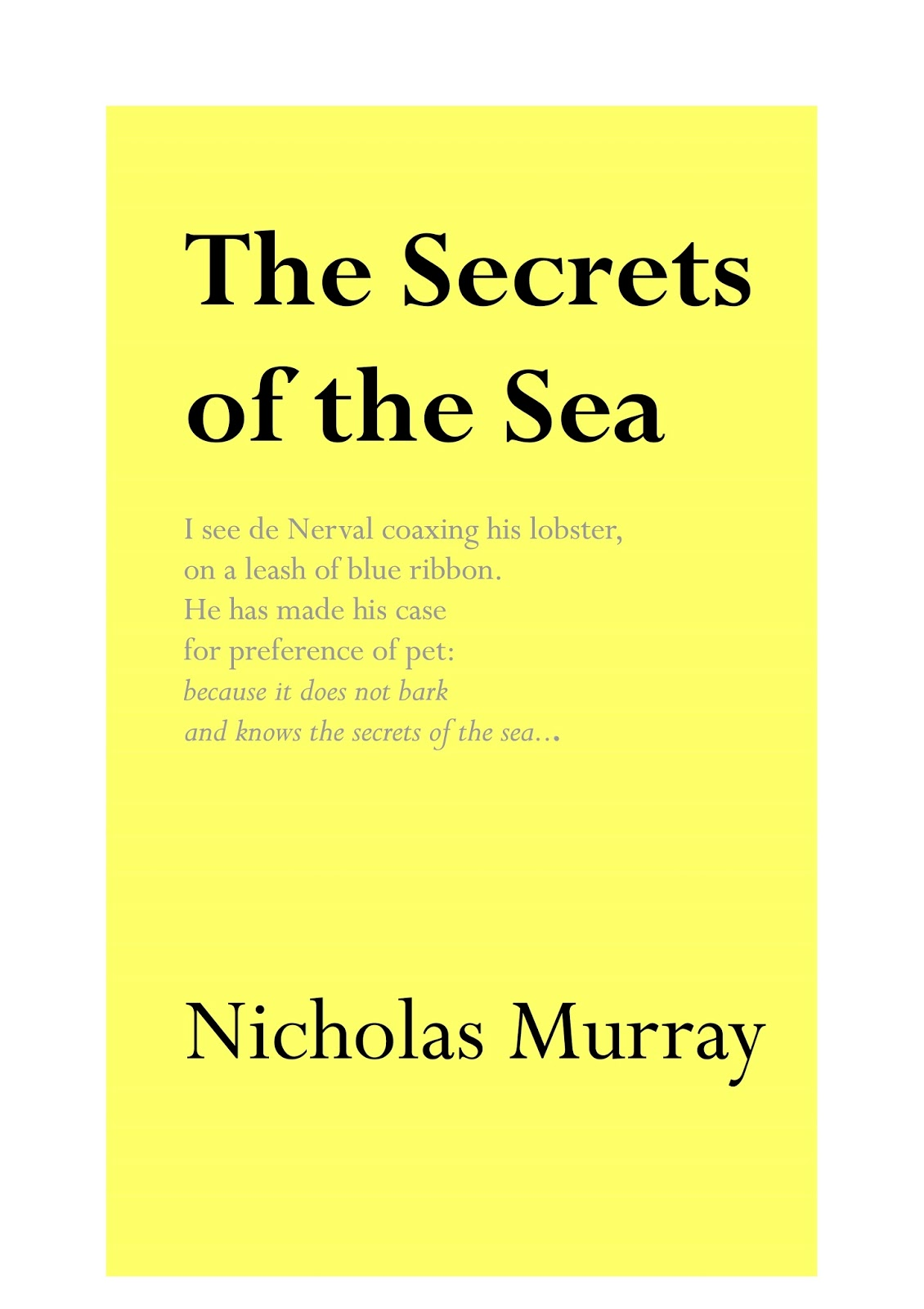 short poems about the sea