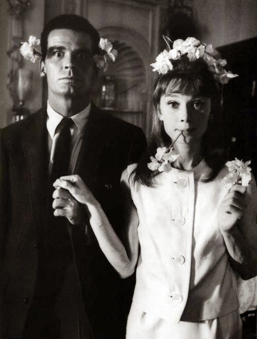 "James Garner e Audrey Hepburn sul set di ""The Slander"" (1961)"
