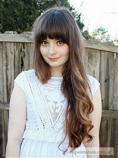flequillo largo peinados 2015