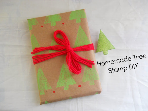 Homemade Tree Stamp DIY