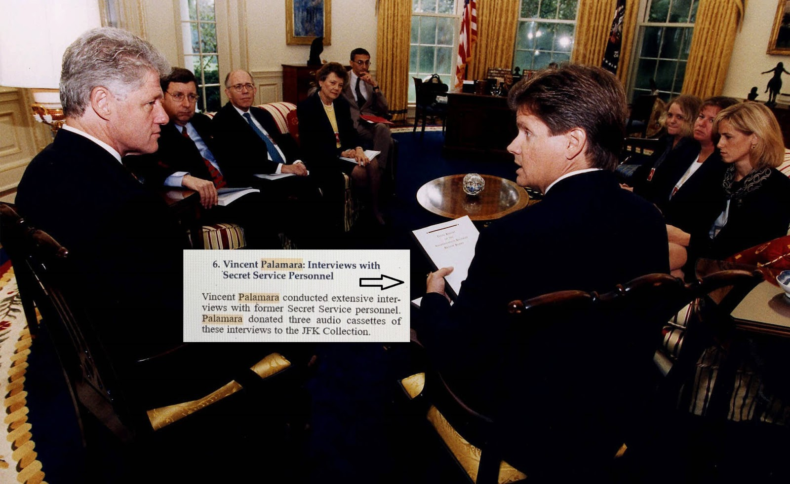 The members of the ARRB presenting President Clinton with the Final Report September 1998