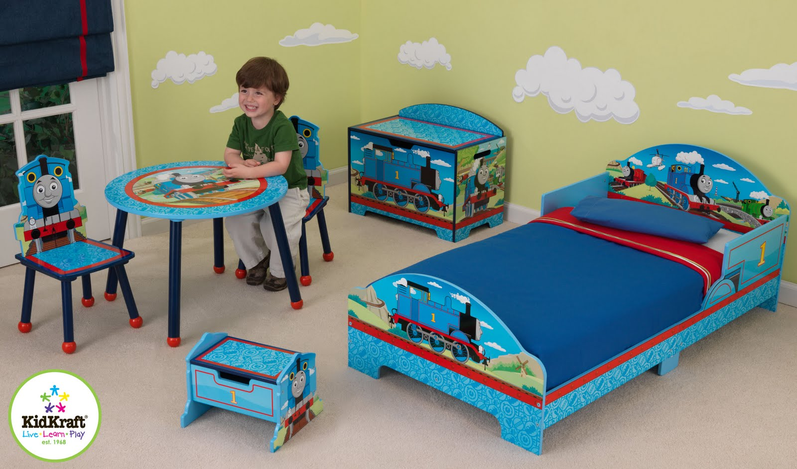 Marvellous Kidkraft Thomas And Friends Table And Chair Set & Breathtaking Thomas The Tank Engine Table And Chairs Contemporary ...
