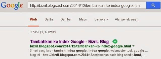 Tambahkan ke Index Google3