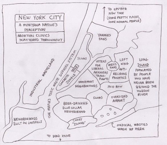 Random Notes Geographeratlarge Unconventional Yet Informative - Famous new yorkers map of us