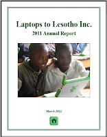 Laptops to Lesotho 2011 Annual Report Cover Page