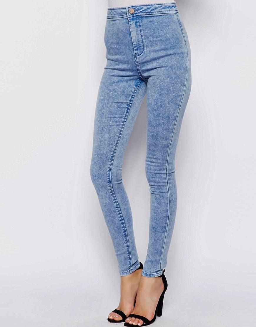 Jeggings di Jeans a Vita Alta