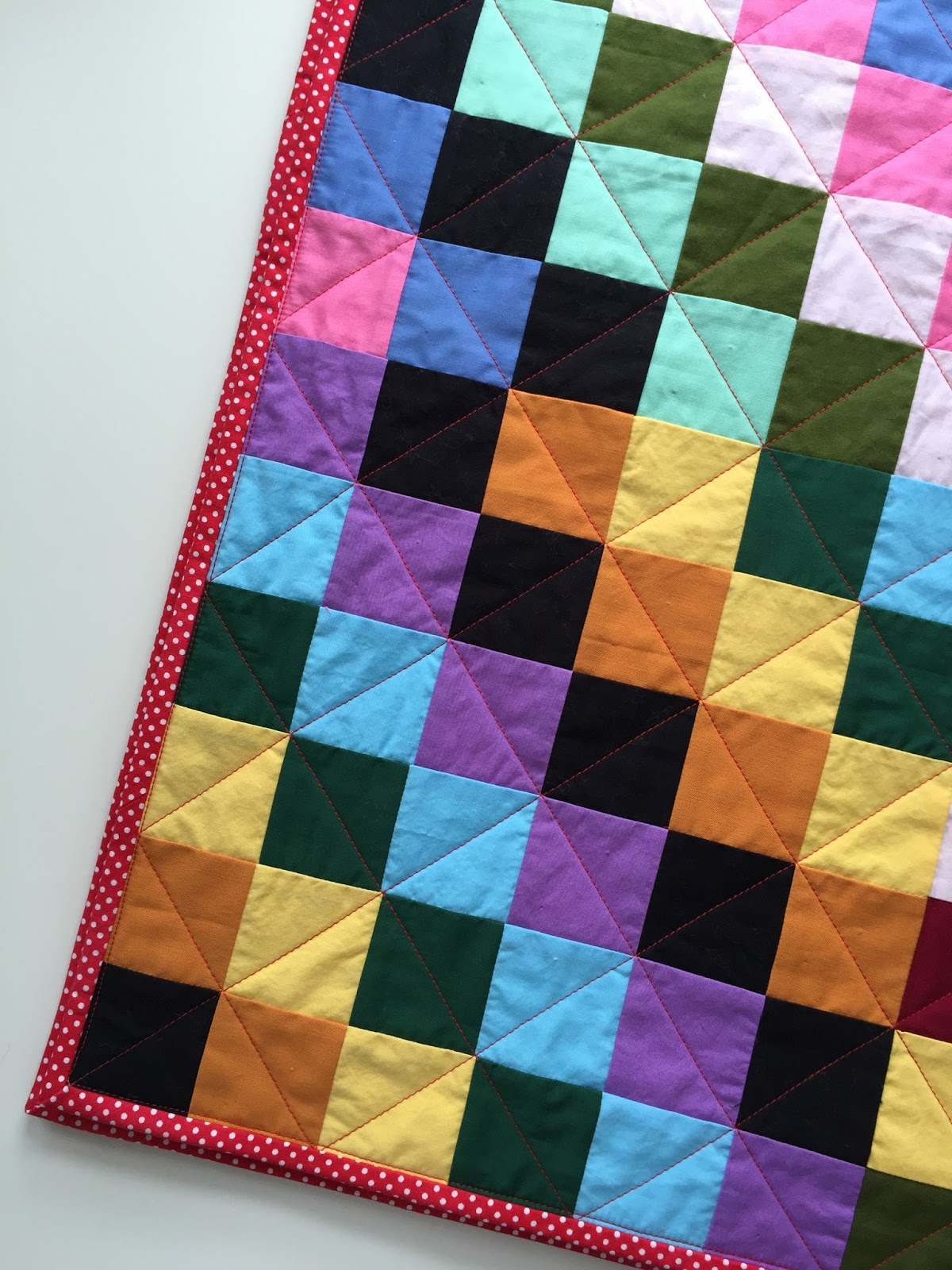 Solid Scrappy Trip Around The World Quilt Salty Oat