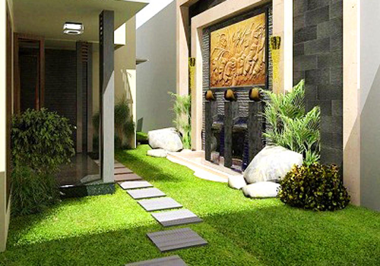 taman minimalis tukang taman rumput gajah mini saung