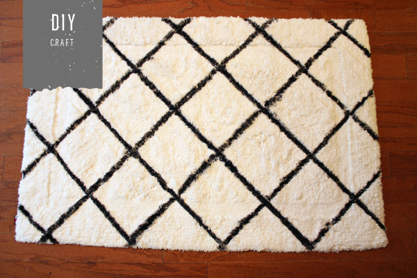 DIY Diamond Rug by Holly Would