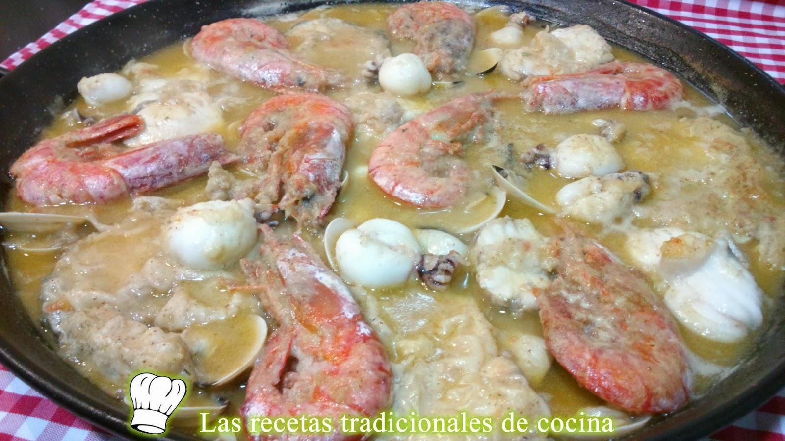receta de la zarzuela de pescado y marisco