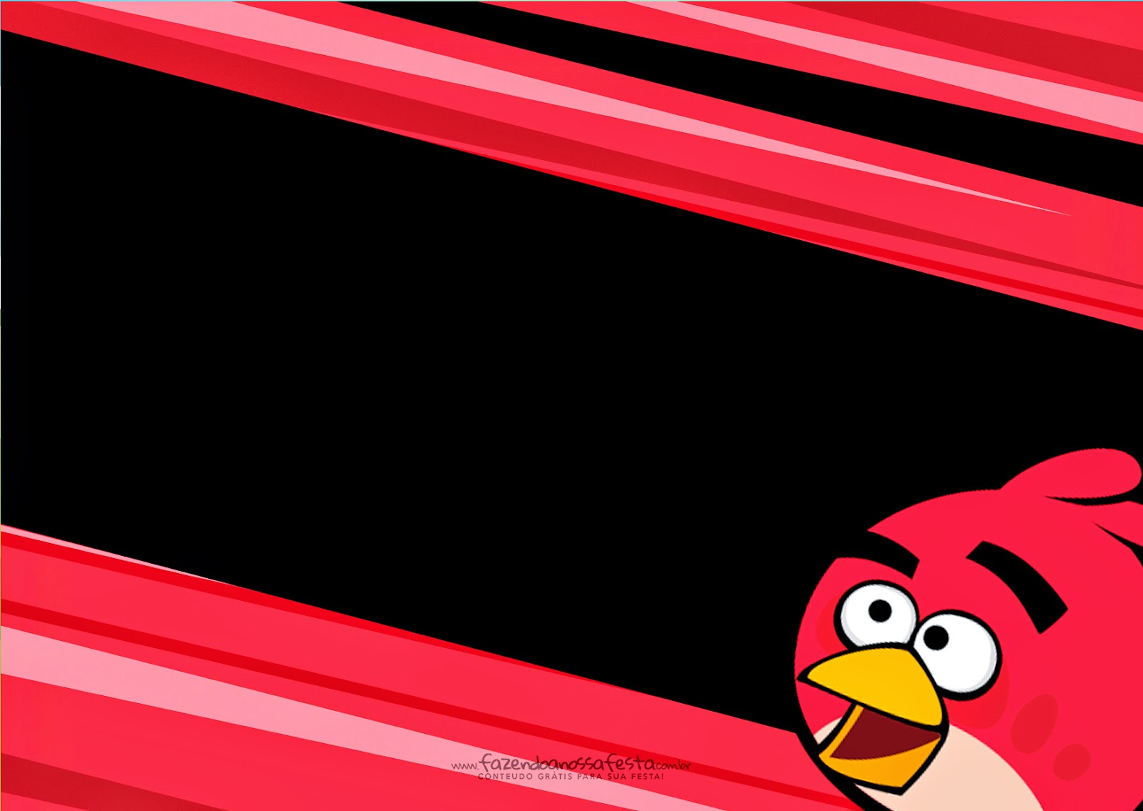 Angry Birds: Free Printable Invitations. - Oh My Fiesta ...
