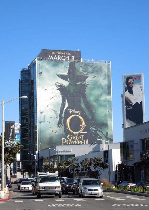 Giant Oz Great Powerful movie billboard