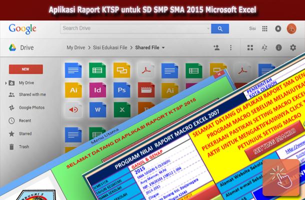 Aplikasi Raport KTSP untuk SD SMP SMA 2015 Microsoft Excel Download Gratis