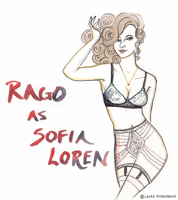 Laura Rosenbaum Illustrator for Rago Lingerie and The Lingerie Journal