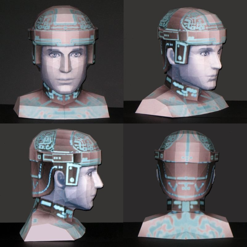 Tron Bust Papercraft