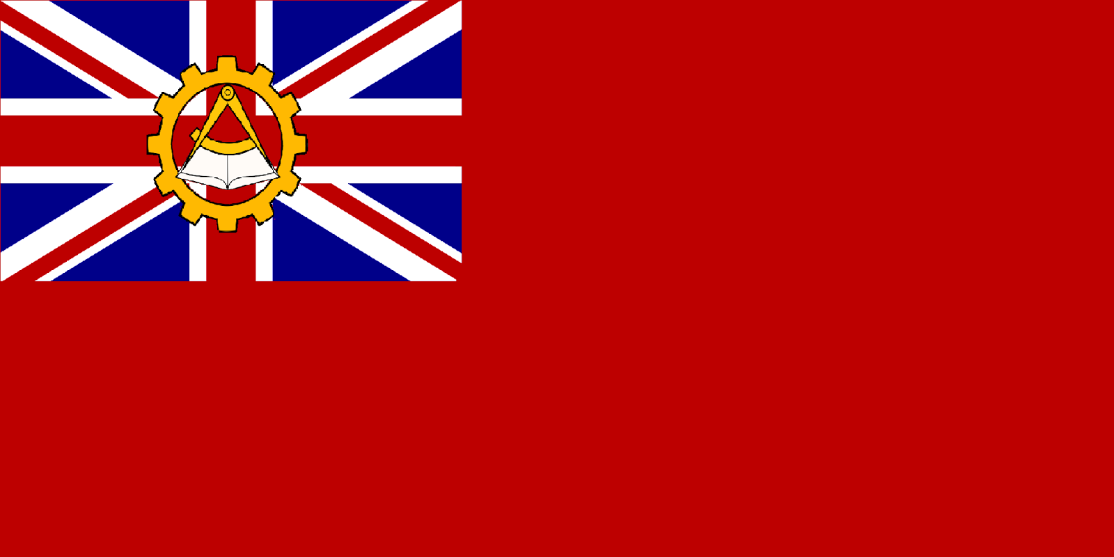 Sams flags communist british isles alternative history the second idea is similar but based more on the red ensign with the union flag defaced with the communist badge biocorpaavc Gallery