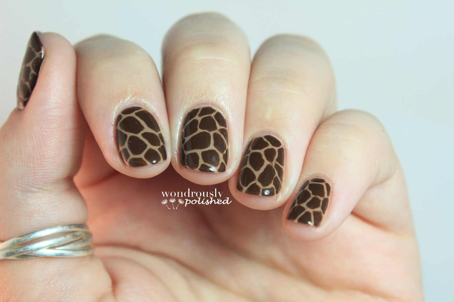 Wondrously Polished 31 Day Nail Art Challenge Day 13 Animal Print