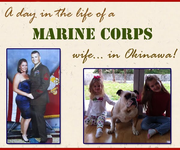 A day in the life of a Marine Corps wife...