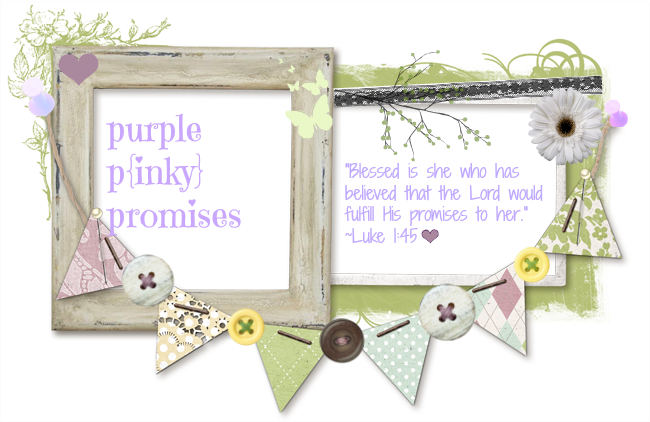PurpleP{inky}Promises-Blessed is she who believes that the Lord will fulfill his promises to her.