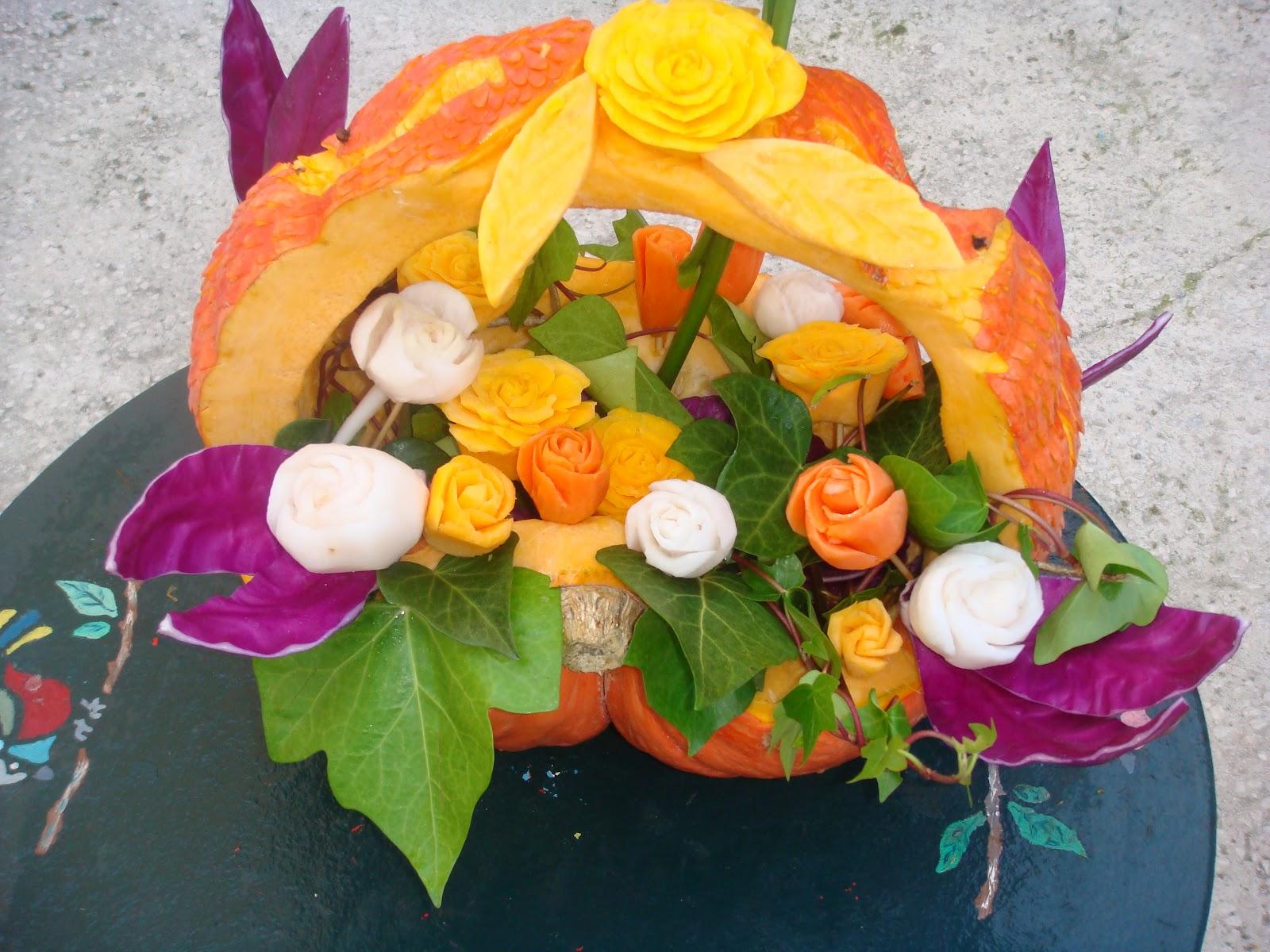 Luna decoracion con frutas y verduras for Decoracion con verduras