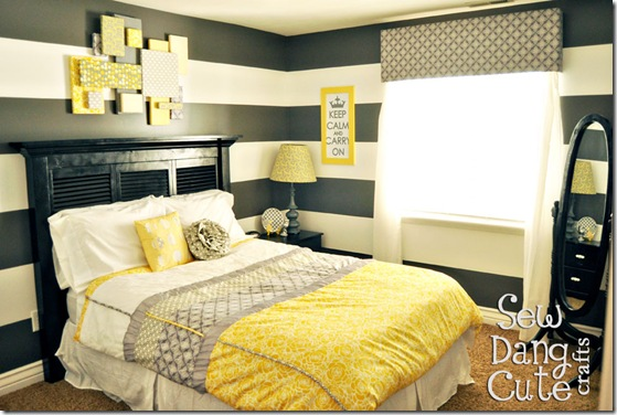 Great ideas diy inspiration 9 pallet furniture - White yellow and grey bedroom ...