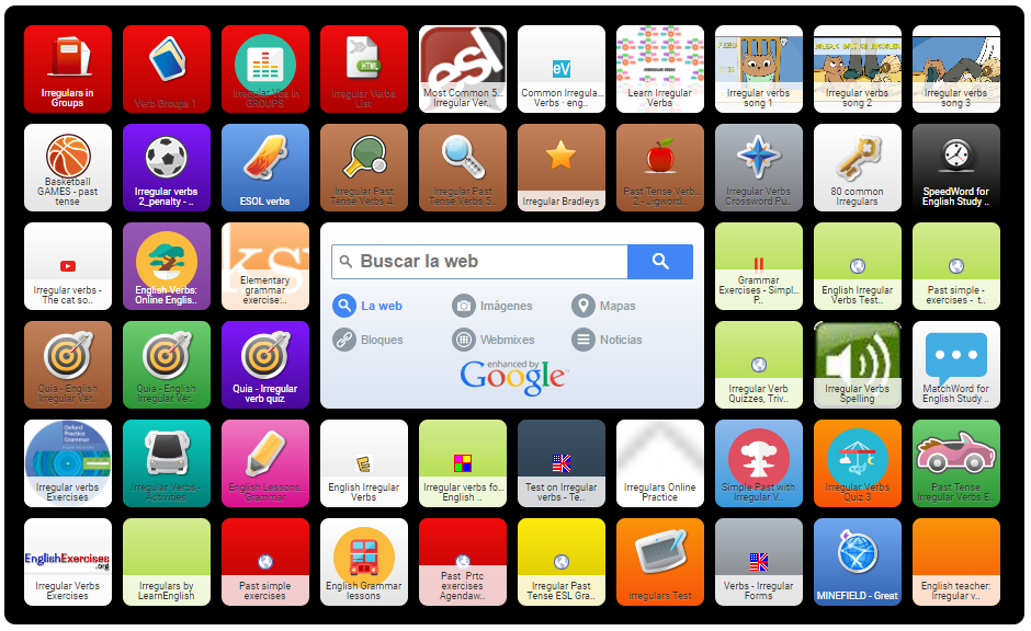 Irregulars Symbaloo