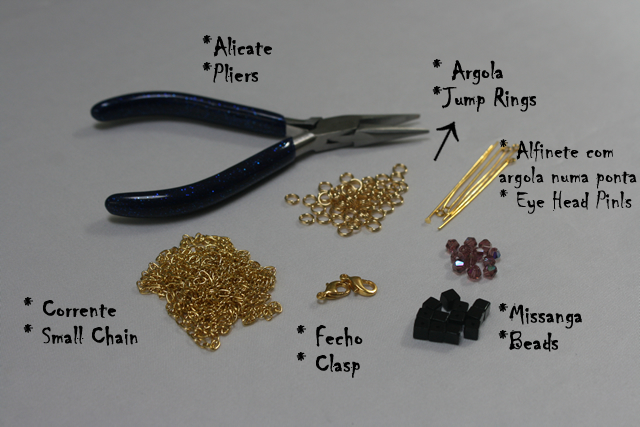 DIY Delicate Bracelet parts and tools
