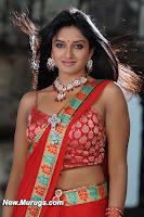 Hot, Vimala, Raman, Red, Saree, Navel, Latest, Pics