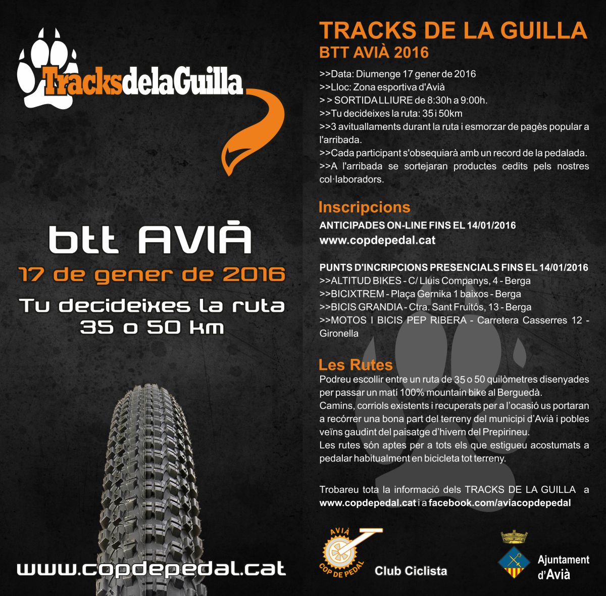 Flyer Tracks de la Guilla 2016