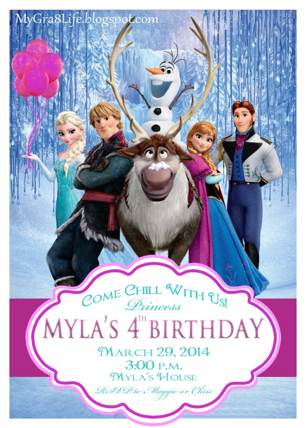 My Gra 8 Life: Disney FROZEN Party ~ Decor Kids Can Create!