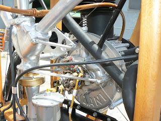 Banda del darrera del motor Anzani del Bleriot XI.