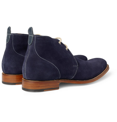 Navy Blue Suede Womens Shoes