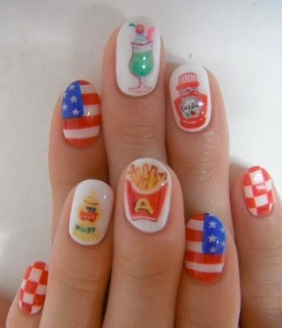 Nail Polish Ideas For Fourth Of July To Bend Light