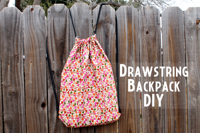punk projects: Drawstring Backpack DIY
