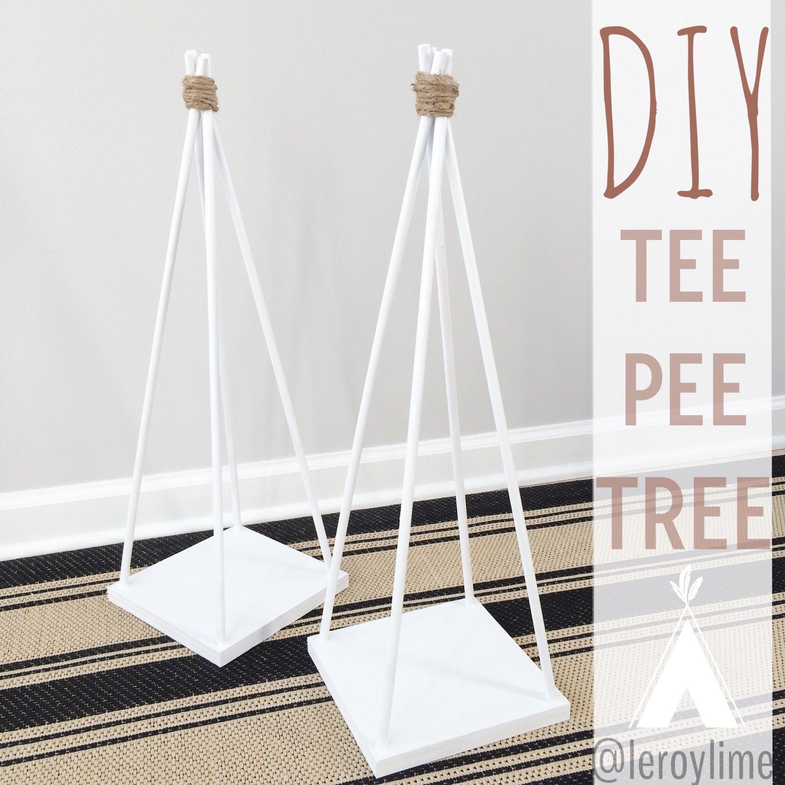 LeroyLime: DIY TeePee Tree - Fall Decor