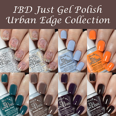 IBD Just Gel Polish Urban Edge Collection Swatches and Review