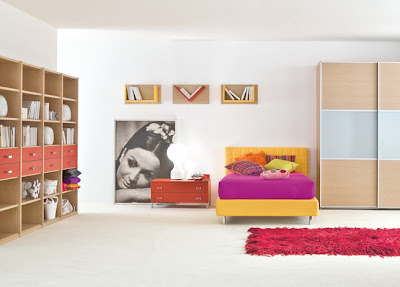 moderna habitación juvenil