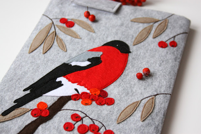 funda ipad pajaro