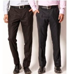 PayTM : Buy Aumentare Set Of 2 Black And Brown Formal Trouser at Rs. 300 only
