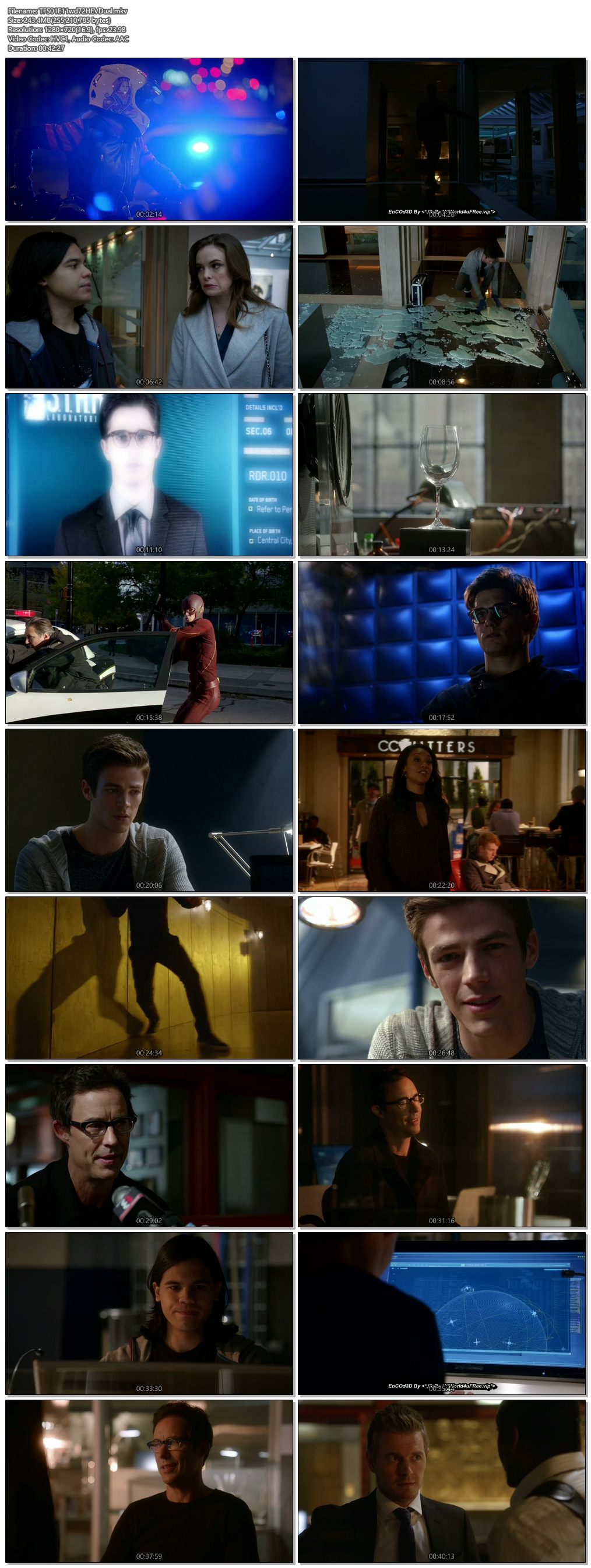 Screenshots Of Hindi Dubbed Show The Flash 2015 Season 01 Episode 11 300MB 720P HD