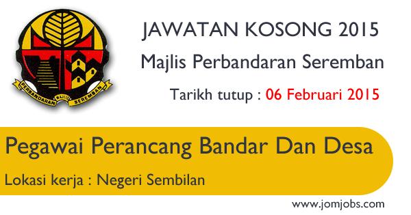 Jawatan Kosong Majlis Perbandaran Seremban (MPSNS) 2015 Terkini