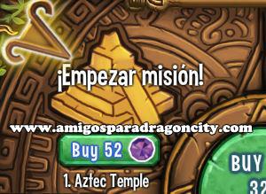 imagen de la primera parte de la isla azteca de dragon city