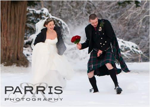 Winter Wedding at Dalhousie Castle