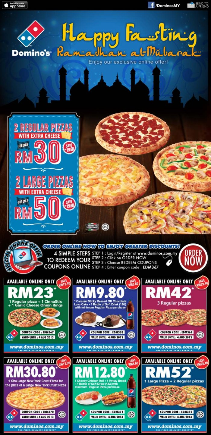 Dominos pizza coupons 2019