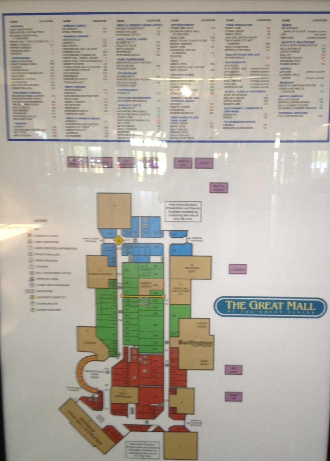 dead and dying retail the great mall of the great plains in  - picture of the mall directory
