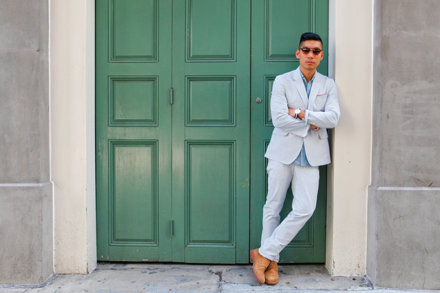 Levitate Style - Haspel Days | Haspel Seersucker Suit at Hyatt French Quarter in New Orleans, menswear, Leo Chan, Alicia Mara, travel blogger